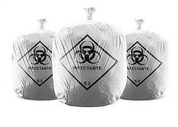 Distribuidor de saco para lixo infectante hospitalar