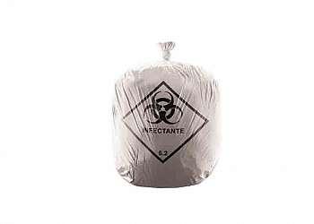 Saco de lixo branco infectante 100 litros sp