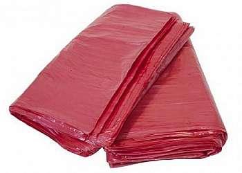 Saco de lixo vermelho hospitalar